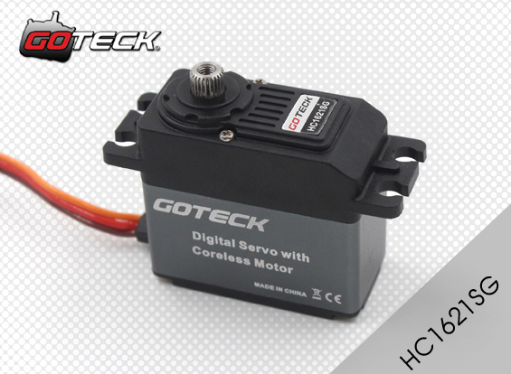 Goteck HC1621S Digital Metal Gear 53g 23kg-cm High Torque Coreless Servo for RC Car Model/ Fixed-wing Aircraft/Airplane cys bls5115 64g 15kg cm alu metal brushless servo for rc heli fixed wing plane