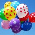 50 unids/lote Inflables Globos de Látex de 12 pulgadas Polka Dot Globos Fiesta de Cumpleaños de La Boda Globos Decoración Globos de Aire Bolas de Color