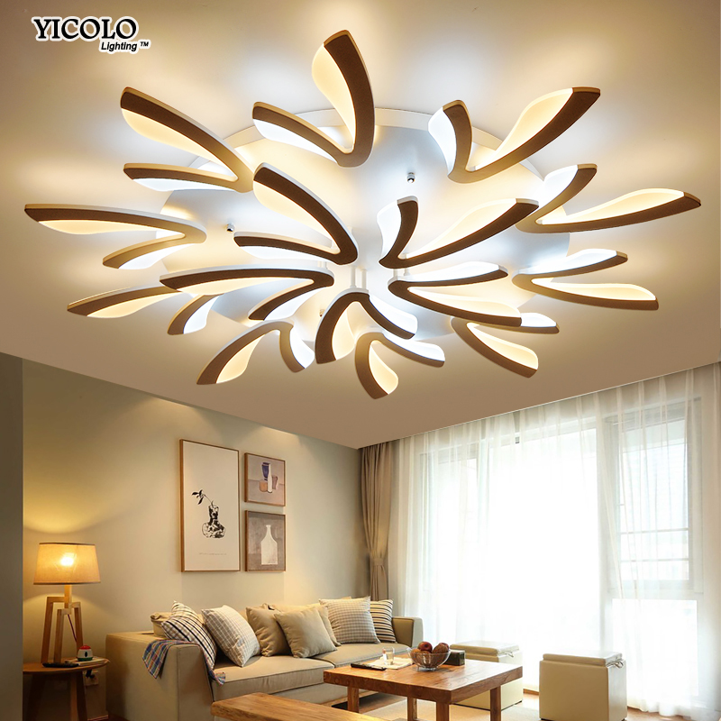 Acrylic Modern led ceiling lights for living room bedroom dining room home ceiling lamp lighting light fixtures free shipping modern led living room ceiling lamp acrylic ceiling lights creative bedroom dining room home lighting fixtures plafondlamp lumin