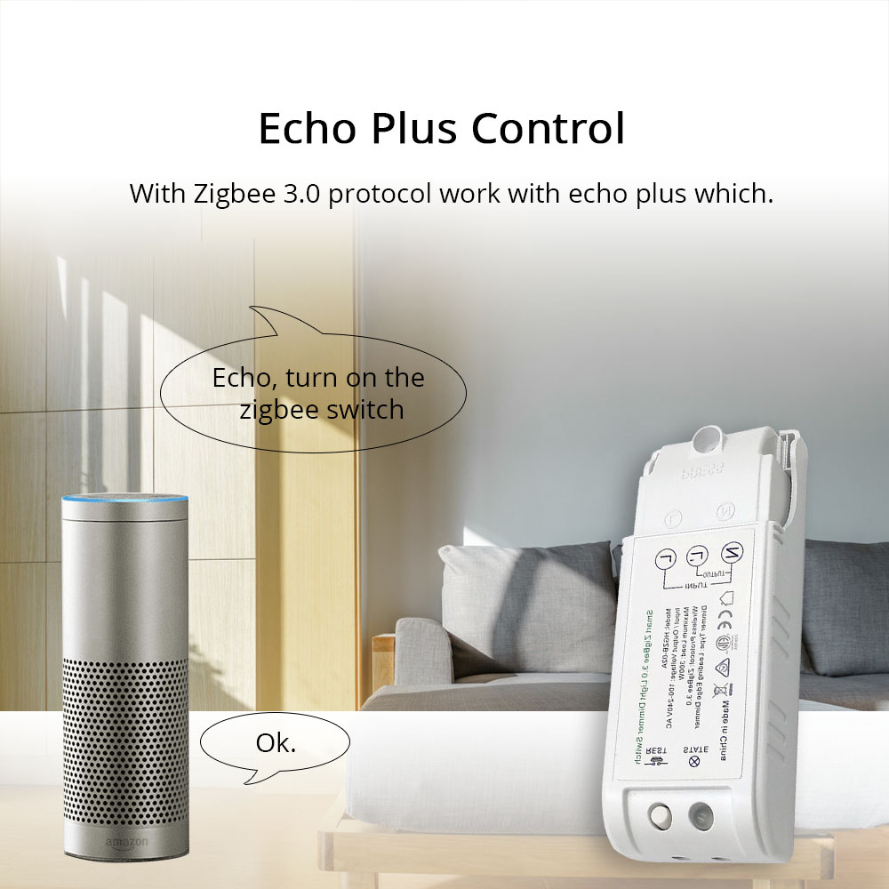 Zigbee 3.0 Switch For DIY Home Device Smart Remote Control By Smartthings Echo Plus Suit for Most of Zigbee Hub