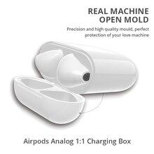 صندوق شحن لاسلكي لأجهزة Airpods سماعات أذن Apple مزودة بتقنية البلوتوث سماعات أذن وشاحن منزلي ومطابقة مع شاحن لاسلكي لسماعات Apple