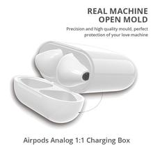 Bezprzewodowe etui z funkcją ładowania dla Airpods Apple Bluetooth słuchawki Airpods ładowarka dom idealne dopasowanie Apple zestaw słuchawkowy bezprzewodowa ładowarka