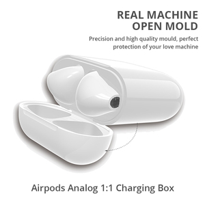 Image 1 - Wireless Charging Box For Airpods Apple Bluetooth Earphone Airpods Charger House Perfect Match Apple Headset Wireless Charger
