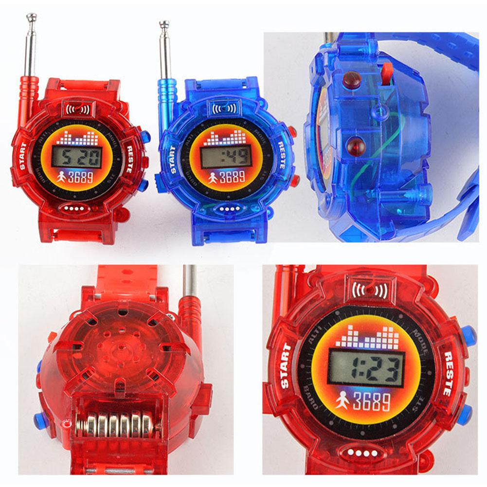 LeadingStar 1 Pairs Children Toy Walkie Talkie Child Wrist Watches Real Time Display Interphone zk30
