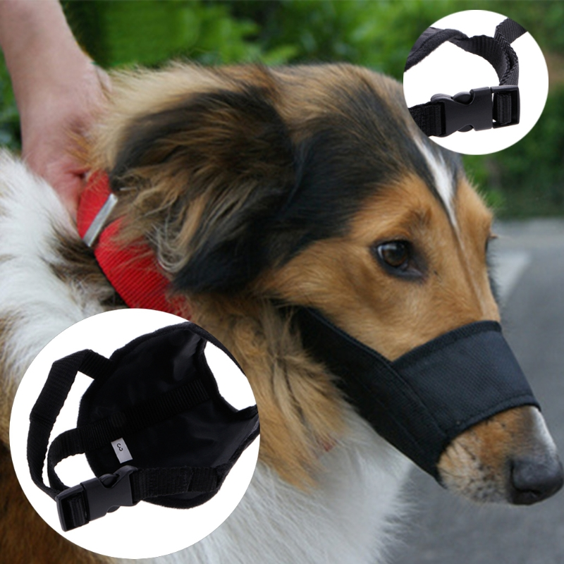 Dog Puppy Pet Adjustable Mask Bark Bite Mesh Mouth Muzzle Grooming Anti Stop Chewing Training Products Pet Accessories