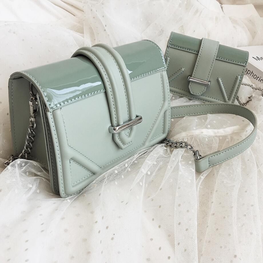 Elegant Female Mini Flap Square Bag 2019 Summer New Quality Leather Women's Designer Handbag Lock Chain Shoulder Messenger Bag
