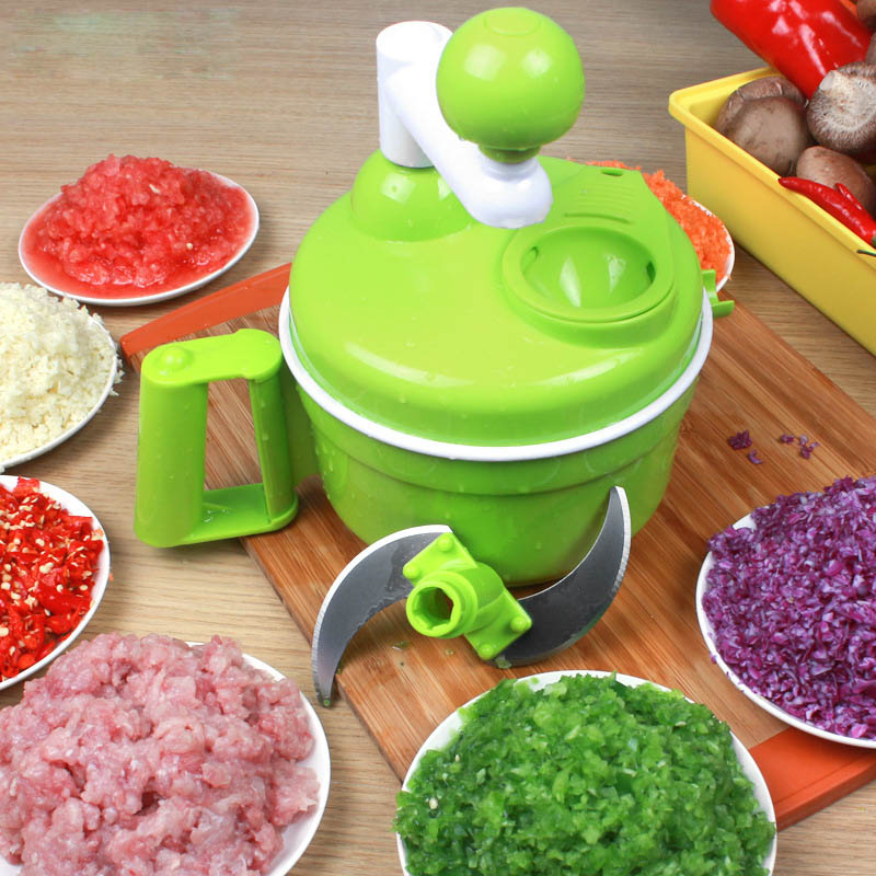 Multifunction kitchen essential chopper easy to clean hand speedy shredder vegetable furit meat chopped plastic egg
