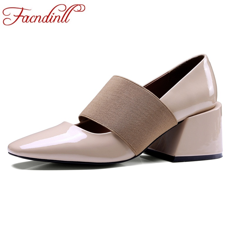 FACNDINLL women pumps 2018 new spring summer fashion patenr leather high heels shoes woman black dress party casual shoes pumps facndinll women gneuine leather pumps shoes new fashion spring summer med heels pointed toe shoes woman dress party casual shoes