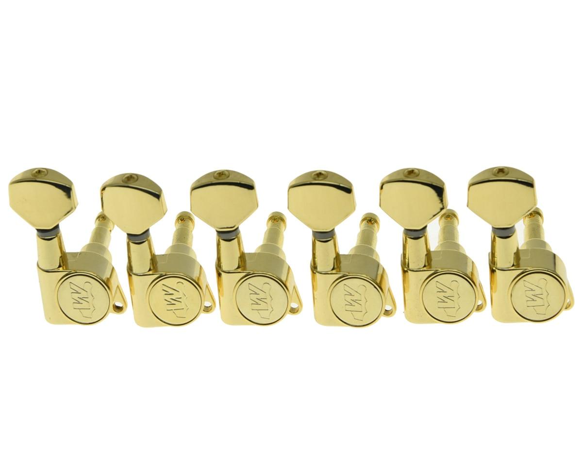 KAISH Wilkinson 6 Inline Gold E Z LOK Guitar Tuning Keys Machine Heads for Strat Tele