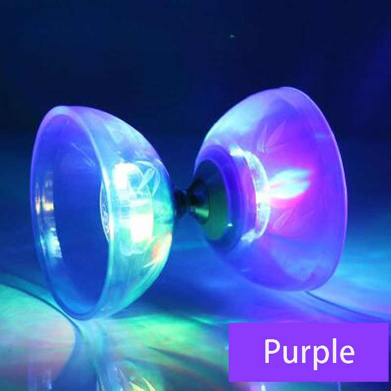 1/3/5 Bearing Professional Diabolo YOYO Toys Set Hight Speed Light Up Glow Classic Toys Bearing Juggling String Bag Kongzhu