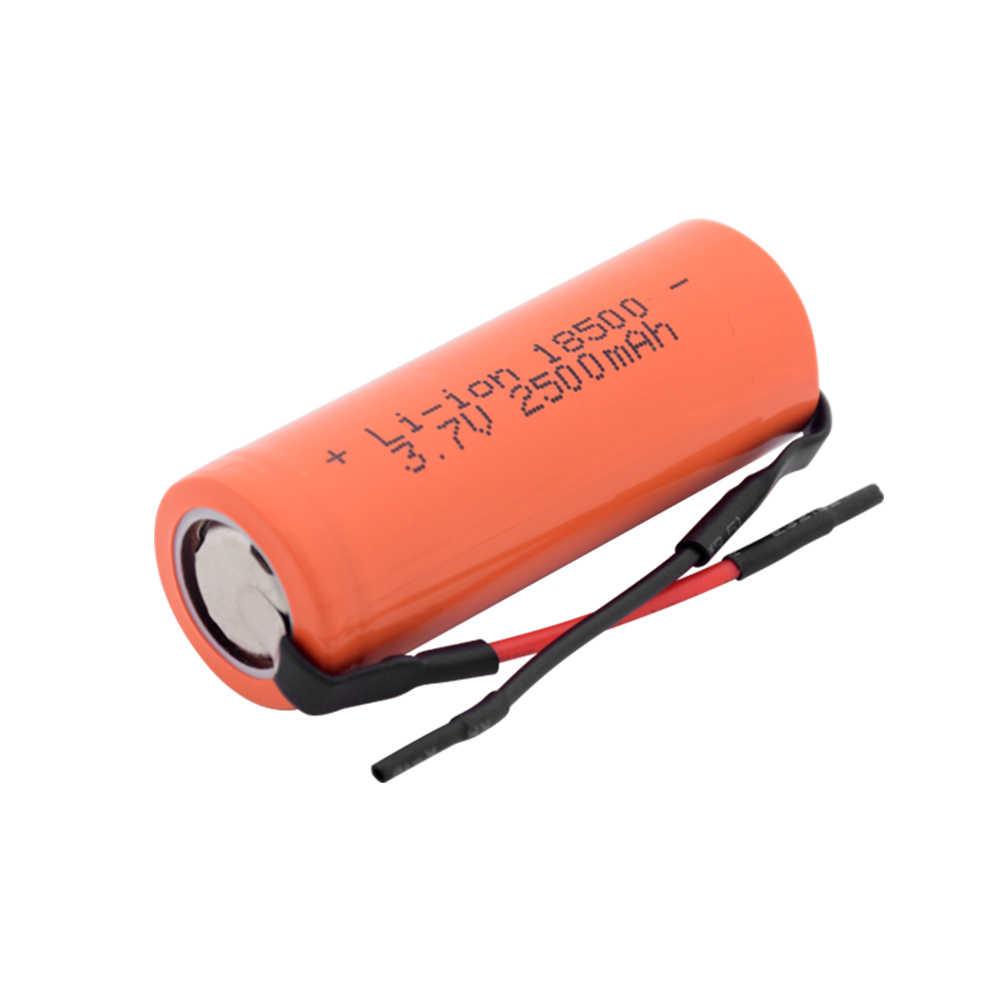 1/2/4 шт 3,7 V 18500 2500mAh литий-ионный аккумулятор перезаряжаемые литиевые батареи 18500 Радиоуправляемый игрушечный автомобиль светодиодный фонарик Фонарь сменная лампа клетки