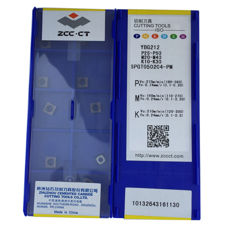 10pcs ZCC.CT SPGT090408-PM   YBG205