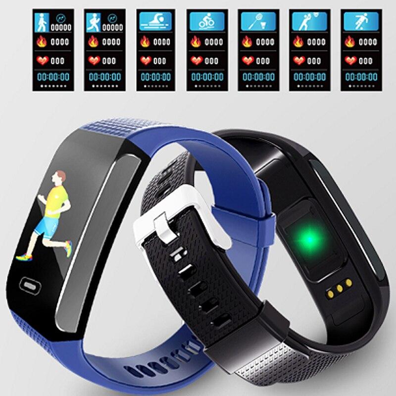 ECG+PPG smart bracelet heart rate blood pressure monitor intelligent wristband sleep monitor waterproof smart band pk mi band 3 цена 2017
