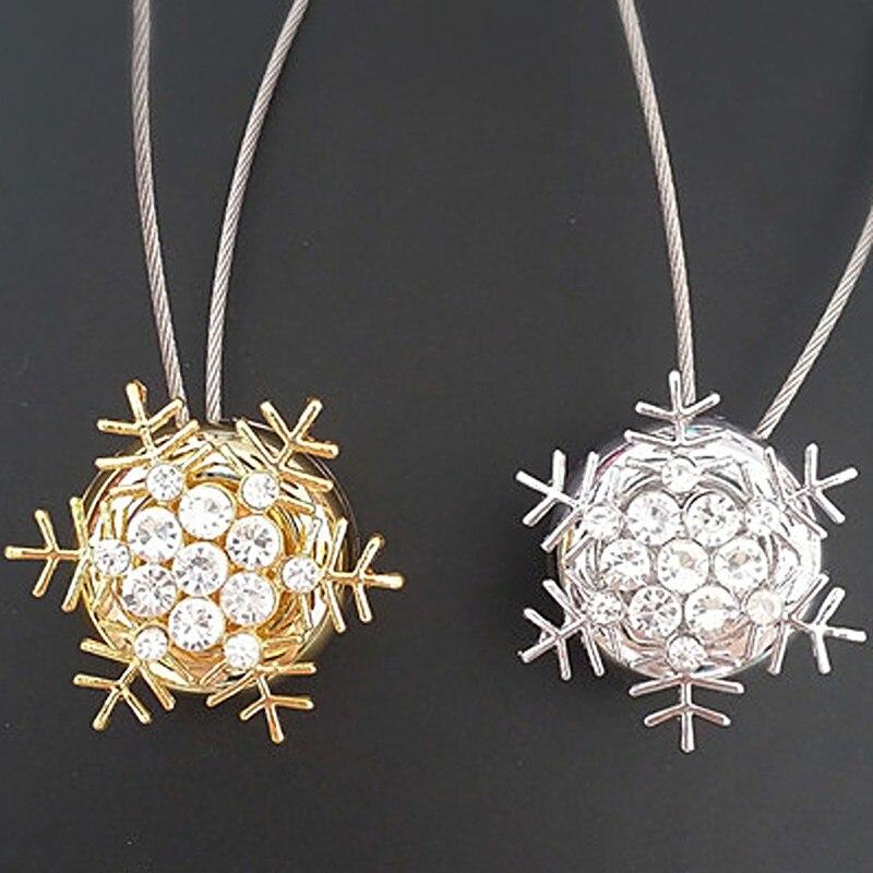 Neueste Europa-stil Schneeflocke Vorhang Clips Magnetische Tieback Kreative Diamant Vorhang Bind Vorhang Attraktion Appliance Schnalle Seien Sie In Geldangelegenheiten Schlau