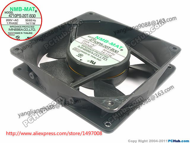 NMB-MAT  4710PS-2T-B30, B00 AC 200V 14/11W  120x120x25mm Server Square  fan цена