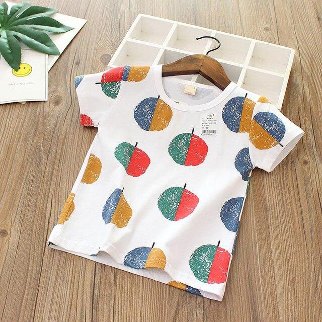 2019 kids tops Girls Clothes children t-shirts for baby boys short sleeve summer t shirts beach Size90~120 cartoon