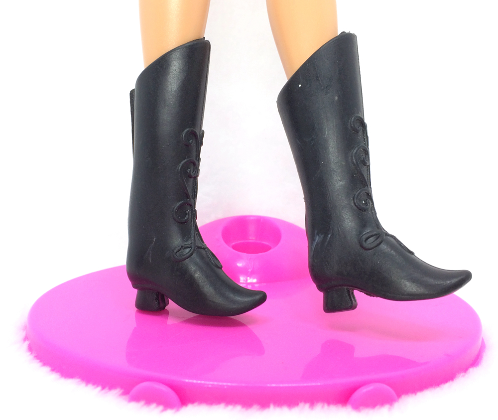 Black boot sandals - Nk 5 Pairs Set Doll Black Shoes Fashion Boot Cute Heels Sandals For Barbie Doll