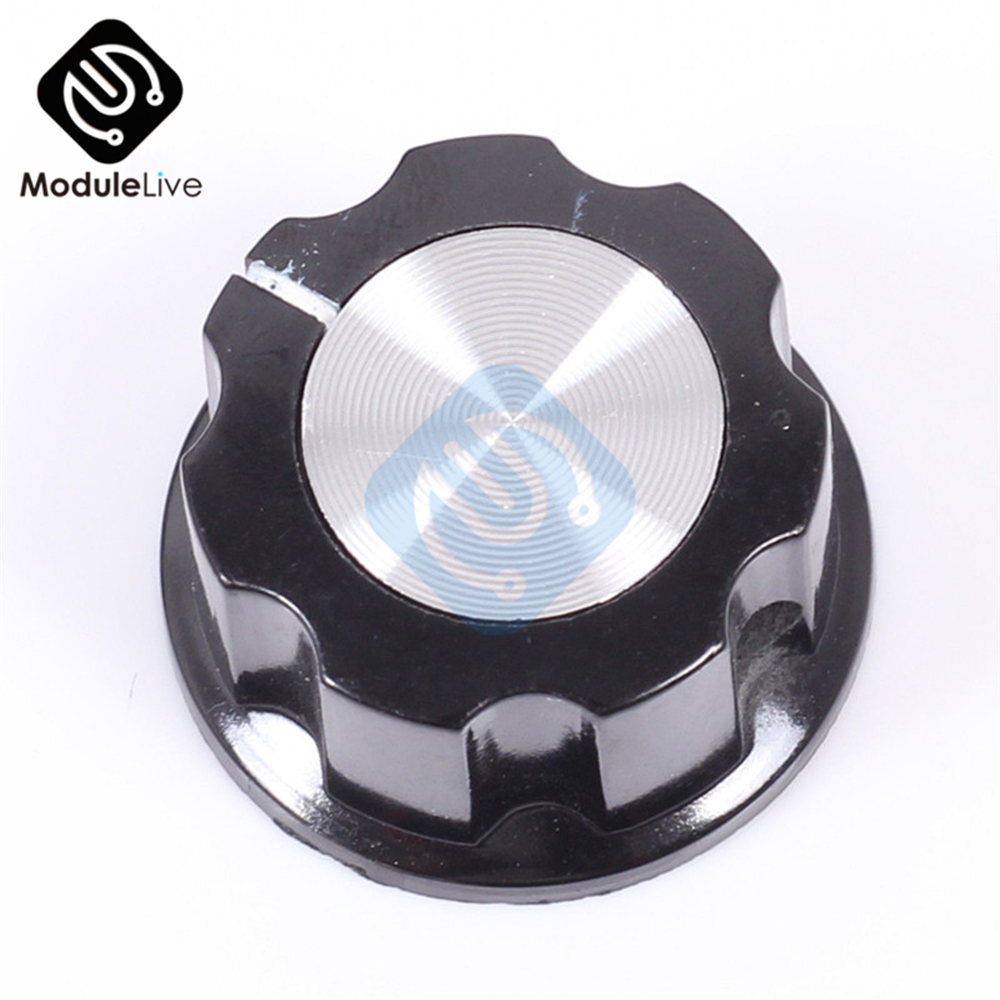 Perilla De Baquelita Rotativo Potenciómetro Perilla Tapa de control de volumen MF 6mm negro del eje