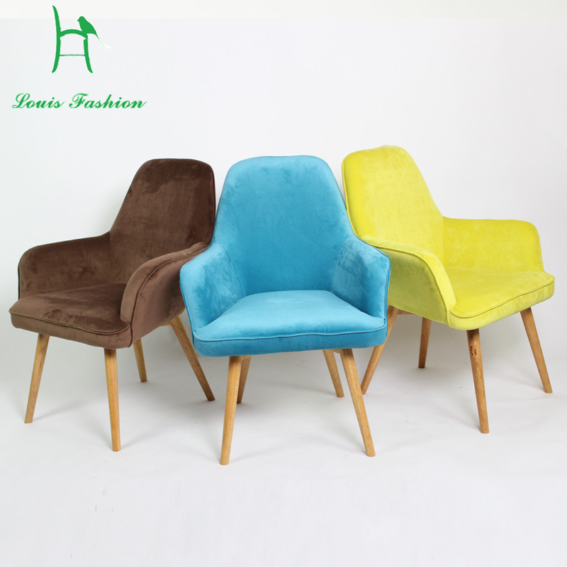Simple Modern Solid Wood Sofa Chair Backrest Small Shoes
