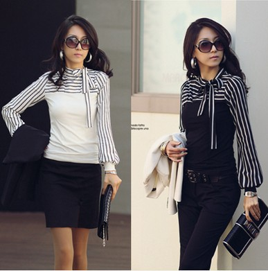 Nice New Fashion Spring OL font b Women b font Clothing Long Sleeve Casual Woman font