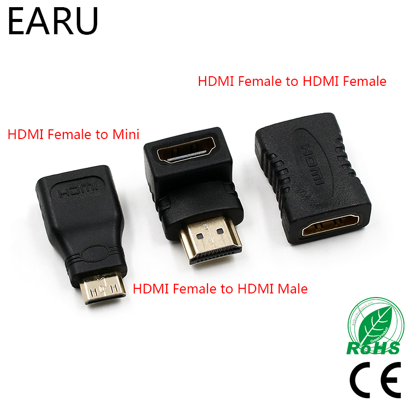 HDMI Connector Male To HDMI Female Adapter 4K Converter Extender 90 Degree Right Angle For 1080P HDTV PC Mini HDMI Adapter