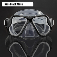 Yoogan Kids diving mask Clear silicone scuba mask Tempered glass snorkel mask Child snorkel gears swimming goggles swim eyewear