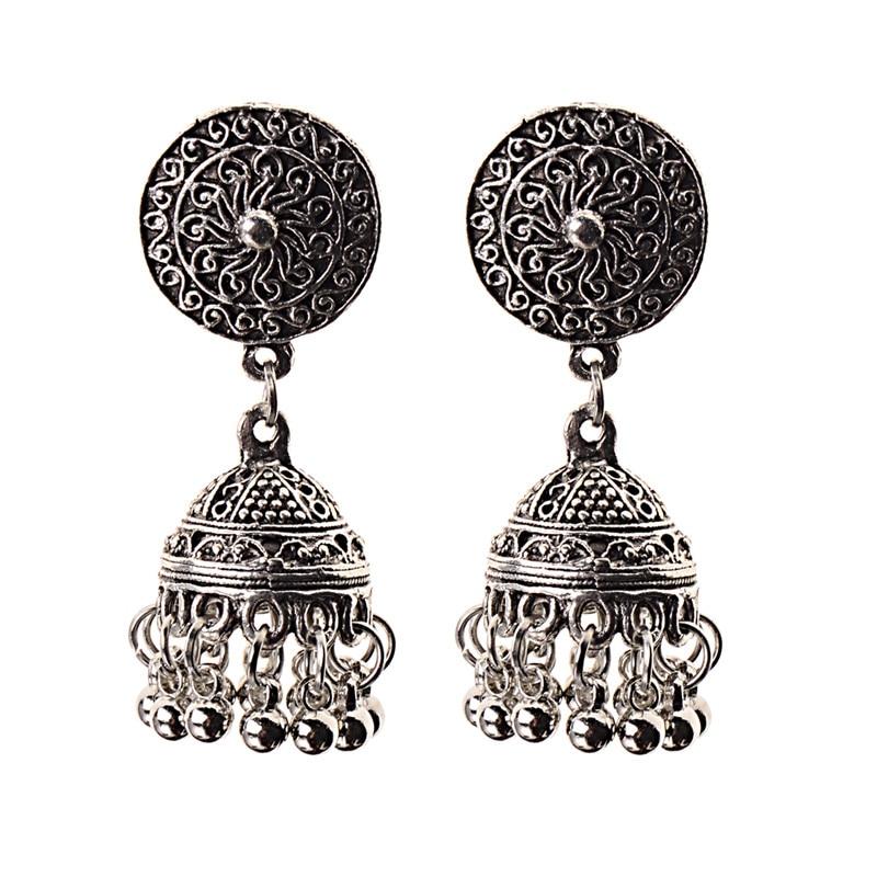 Image 5 - India Retro Birdcage Earrings Handmade Antique Silver Color  Tribal Jewelry BOHO Hippie Wind Pakistani Muslim Thailand NepalDrop  Earrings