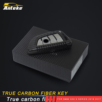 ANTEKE True carbon fiber key cover cap key case accessories for BMW G30 5 series 2018 2017 18 X3 G01