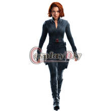 Cosplaydiy Free Shipping Custom made Captain America Movie Women Adult Black Widow Cosplay Costume COS Suit no shoes