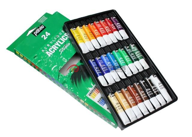 ФОТО 24pcs/set  Authentic France Pebeo Acrylic Paints  hand-painted acrylic paint set  for artist  free shipping