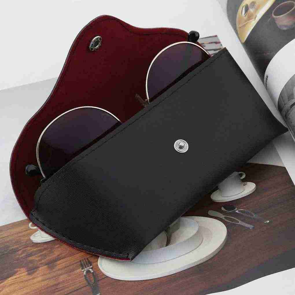 1pcs Affordable PU Leather Glasses Case Vintage Sunglasses Glasses Holder Box Eyeglasses Solid Storage Box High Quality