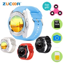 Smart Watch SmartWatch ZW45 Bluetooth Support SIM TF Card Wristwatch Camera Touch Screen Pedometer with Free