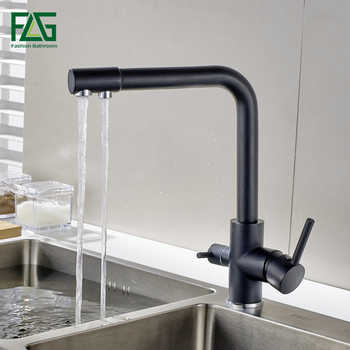 FLG Filter Kitchen Faucets Deck Mounted Mixer Tap 360 Rotation with Water Purification Features Mixer Tap Crane For Kitchen Sink - DISCOUNT ITEM  45% OFF All Category