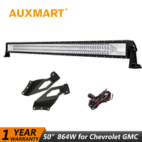Auxmart для Chevrolet Silverado 1999 2006 светодиодные панели 50 864 Вт 702 Вт Offroad прямые светодиодный свет для GMC Sierra 1999 2006