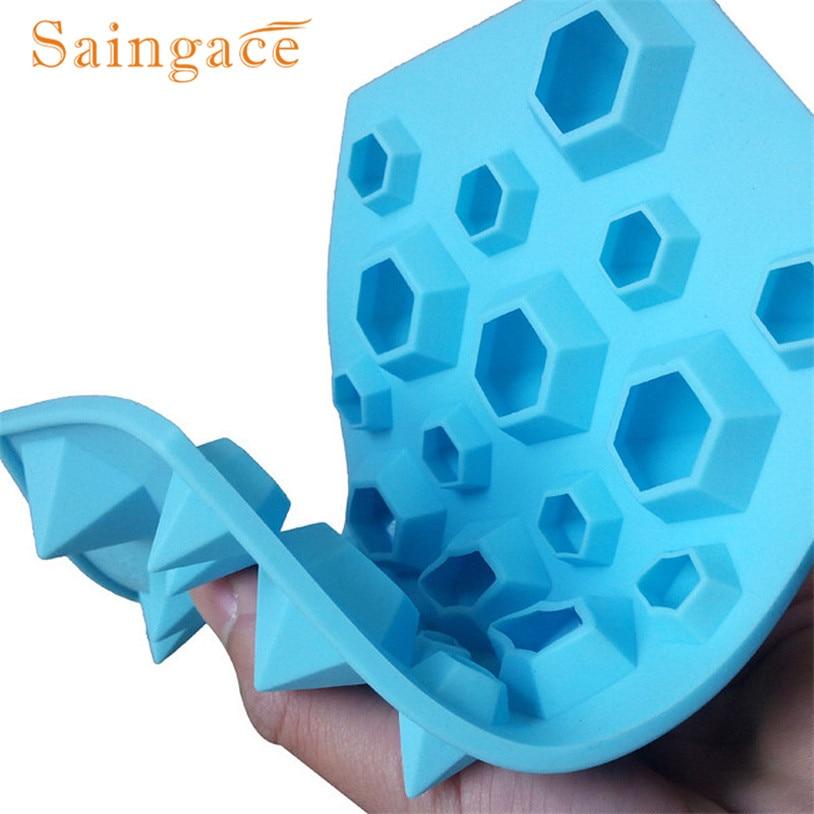 9cbd13953 Saingace الماس العفن الجليد علبة مكعبات 27 التجاويف كريستال سيليكون الجليد  قالب الحلوى الجودة أولا
