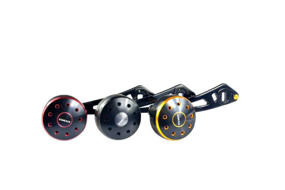 Gomexus Power Handle Metal For Daiwa Abu Garcia Baitcasting Metal <font><b>Reel</b></font> Handle 95mm With 35mm Knob Direct Fit Shimano A Daiwa S
