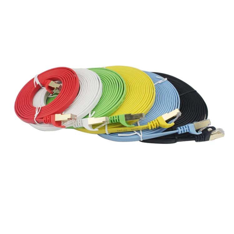 #7001 20 шт. высокое Скорость CAT6A SSTP красный плоский кабель для локальной сети Ethernet кабели Сетевой провод RJ45 патч-корд недорого цена сделано в Ки...