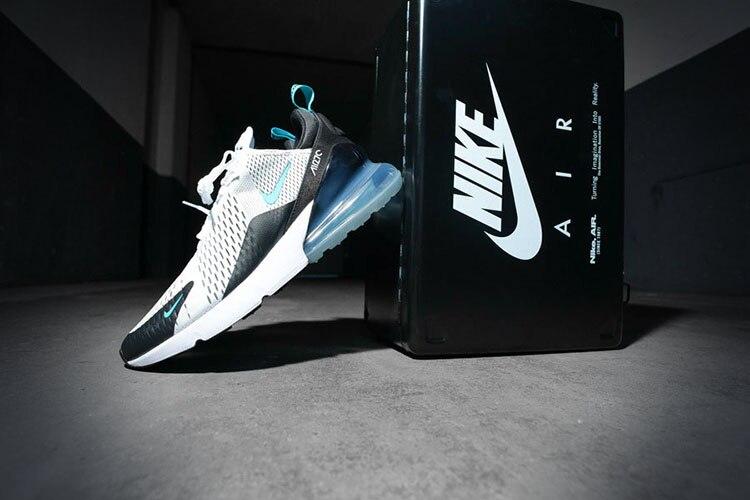 Oryginalny prawdziwe Nike Air Max 270 męskie buty do biegania trampki sportowe na świeżym powietrzu wygodne oddychające dobrej jakości AH8050
