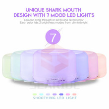 Searide 500ml Aroma Essential Oil Diffuser Ultrasonic Air Humidifier 7 Color Changing LED Lights for Office Home
