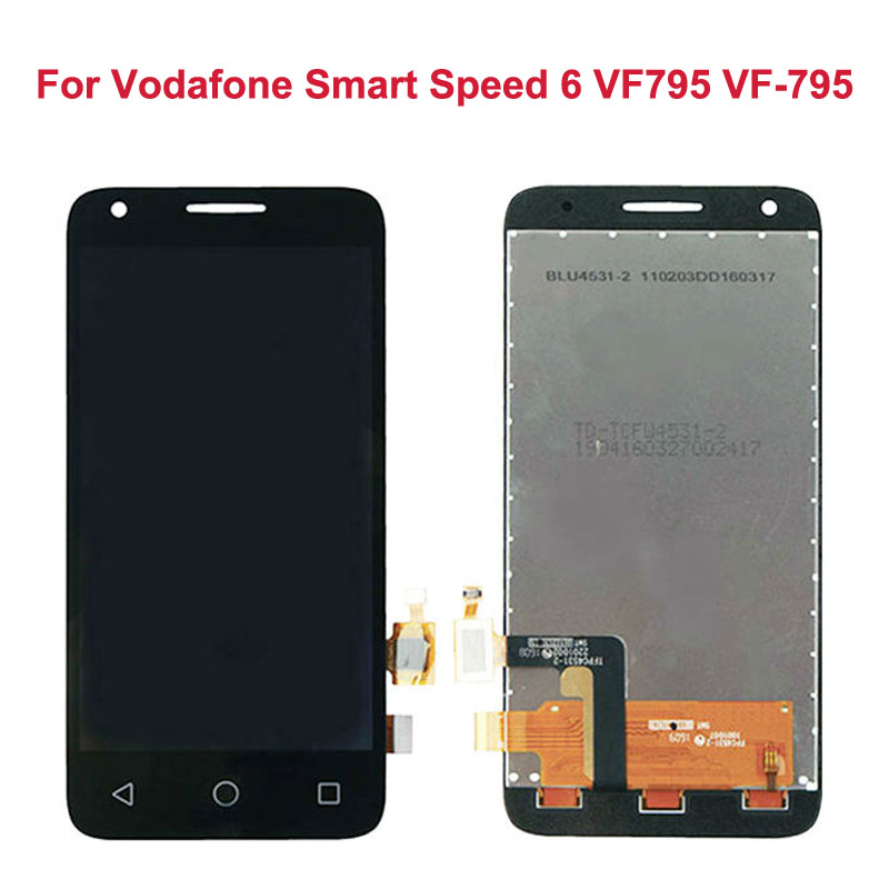 LCD Display For Vodafone Smart Speed 6 VF795 VF-795+Touch Screen Front Glass Digitizer Panel Sensor Lens Replacement