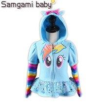 Samgami baby новый 2017 девушки little pony дети куртка детская мое Пальто Милые Девушки Пальто и Толстовки и Девушки Куртку Детей clothing