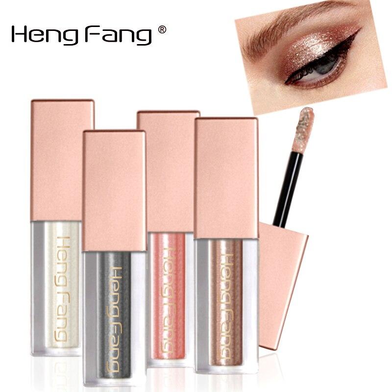 Hengfang Новый блеск для век Макияж Водонепроницаемый мерцание и блеск цвета: золотистый, серебристый светящиеся пигменты жидкости Тени для век stick