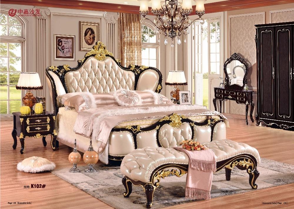2018 Direct Selling Muebles De Dormitorio Möbel Schlafzimmer Set Möbel Kostenloser Versand Zu Apapa Betten, Bett Ende Hocker, Kommode