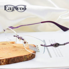 d60e68c7b67a73 Pure Titanium Brillen Randloze flexibele Optische Frame Spektakel Frameloze  Bril bril 010 Lijn Tempel