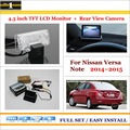 """For Nissan Versa Note 2014~2015 - Car Rear Camera + 4.3"""" TFT LCD Screen Monitor = 2 in 1 Back Up Parking System"""