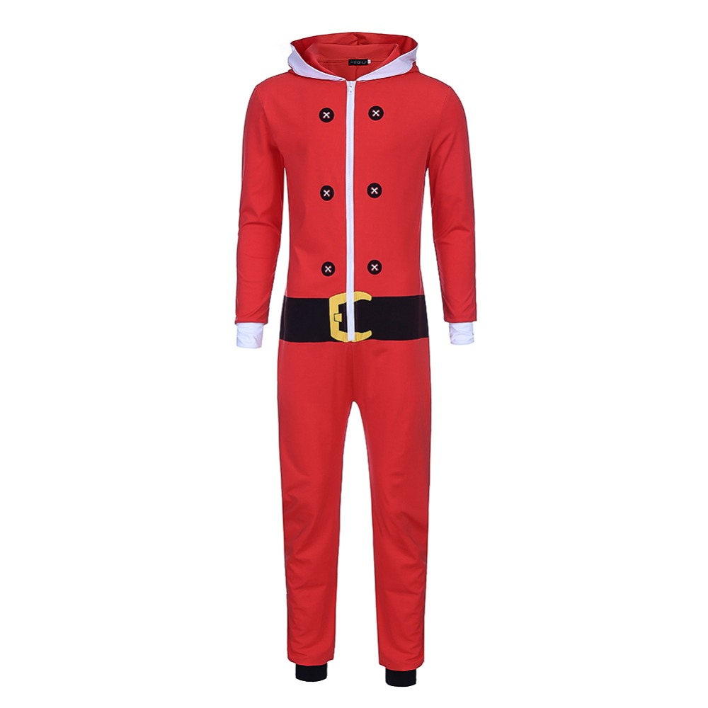 537bb16996 Christmas Elf Siamese Pajamas Onesie Adult Anime Santa Claus Cosplay Costume  Autumn And Winter Stage Jumpsuit Costumes Red Green-in Holidays Costumes  from ...