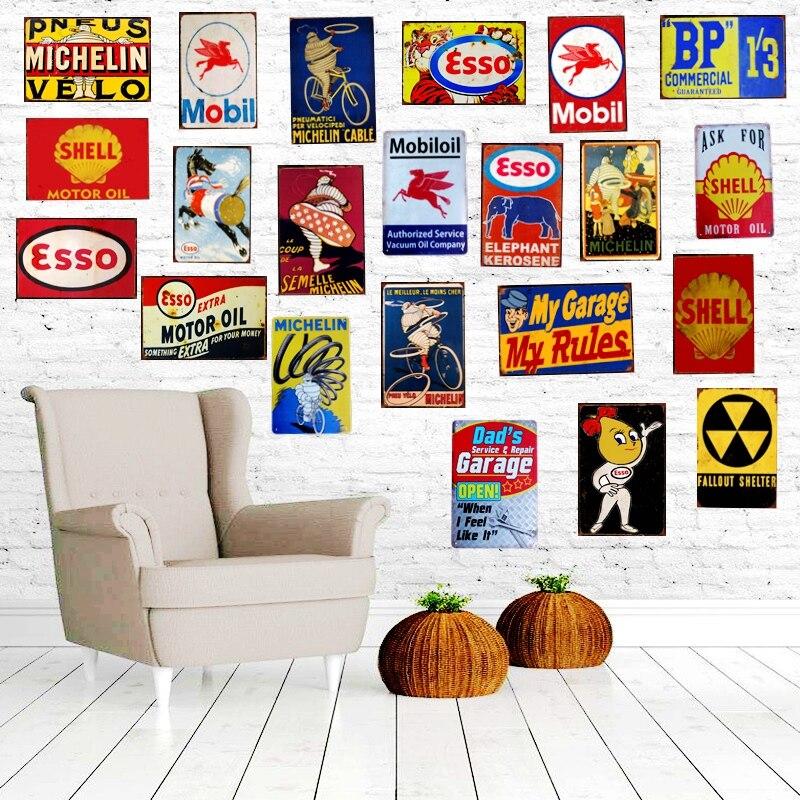 Wholesale Home Decor Stores: Aliexpress.com : Buy Vintage Motor Oil Metal Tin Sign Iron