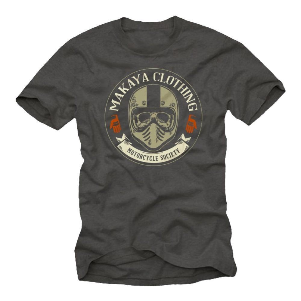 2018 New Mens T Shirt Fashion Men Hot Sale Free Shipping Biker Skull T-Shirt With Motocross Motorcycle Fans Design Tee shirt