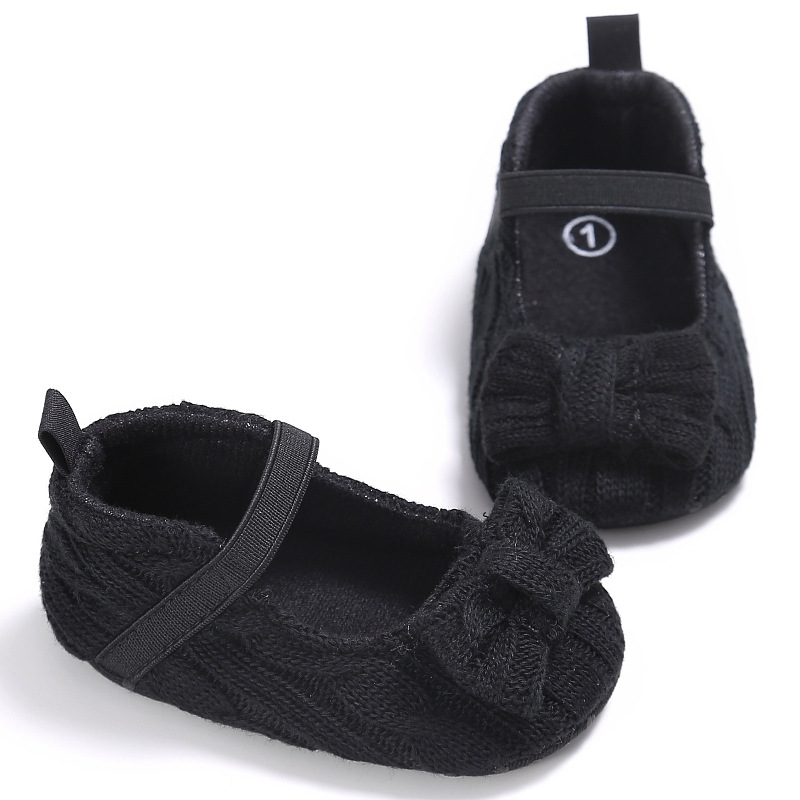 Baby First Walkers Baby Shoes Non-slip Soft Bottom Wool Toddler Shoes for Baby Girls