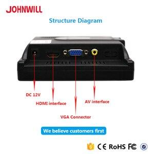Image 5 - Monitor de tela touch portátil 7 polegadas, monitor vga hdmi, com tela hd de 1024x600 resolução entrada av,